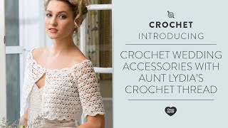 Exquisite Bridal Topper Free Crochet Pattern in Aunt Lydia's Crochet Thread