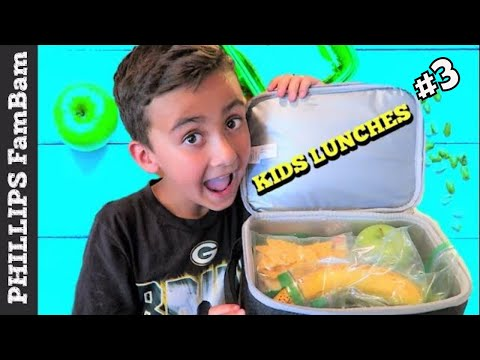 KIDS SCHOOL LUNCH IDEAS | BACK TO SCHOOL LUNCHES|  PHILLIPS FamBam Vlogs
