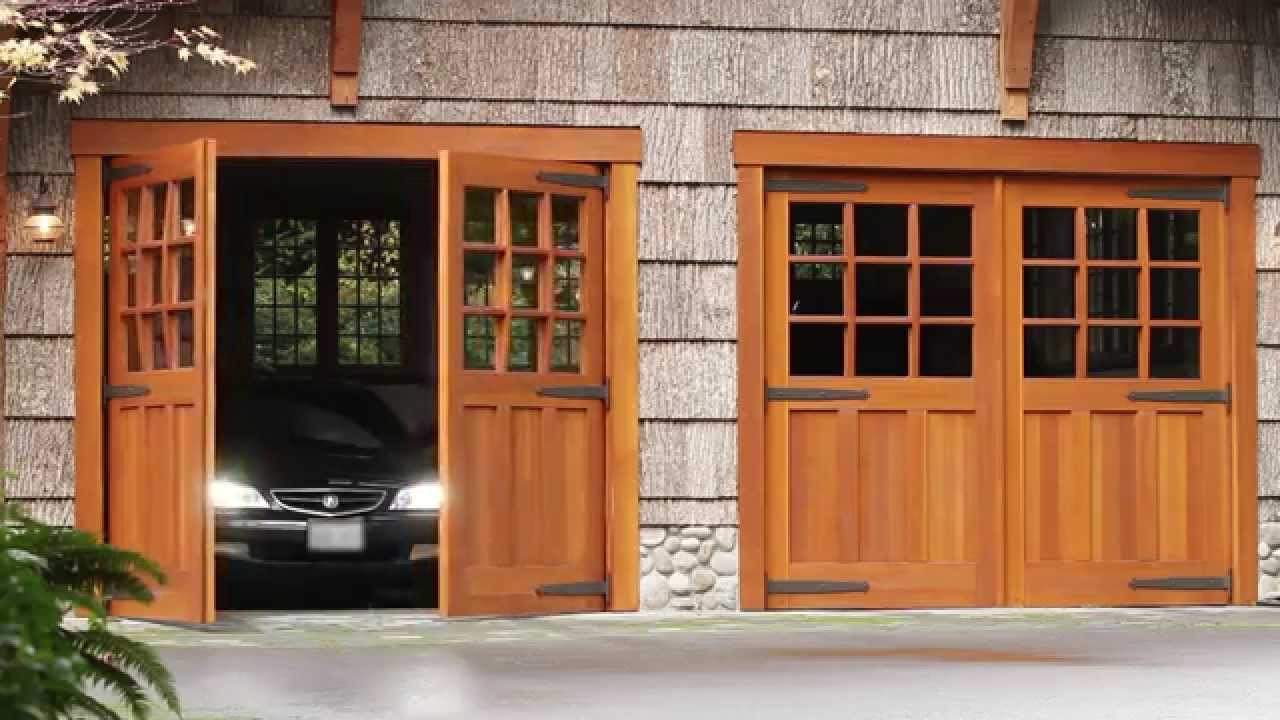 Carriage Door Automatic Electric Openers  Franklin Autoswing  YouTube