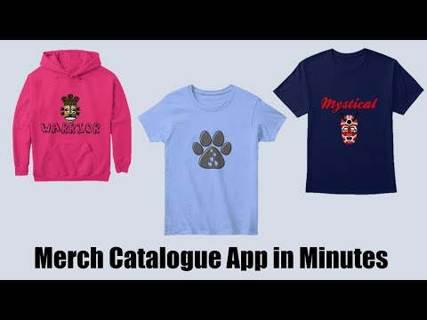 AppSheet No-code Merch Catalogue App in Minutes