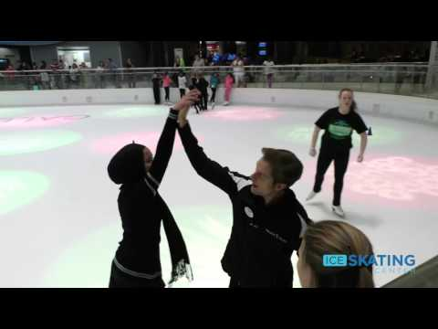 Charlie White Helps Out Around the Galleria Ice Skating Center