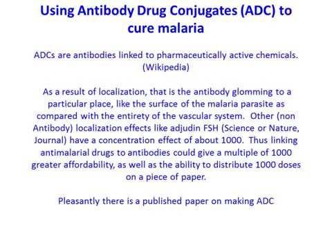 Antibody Drug Conjugates ADC Cure Malaria