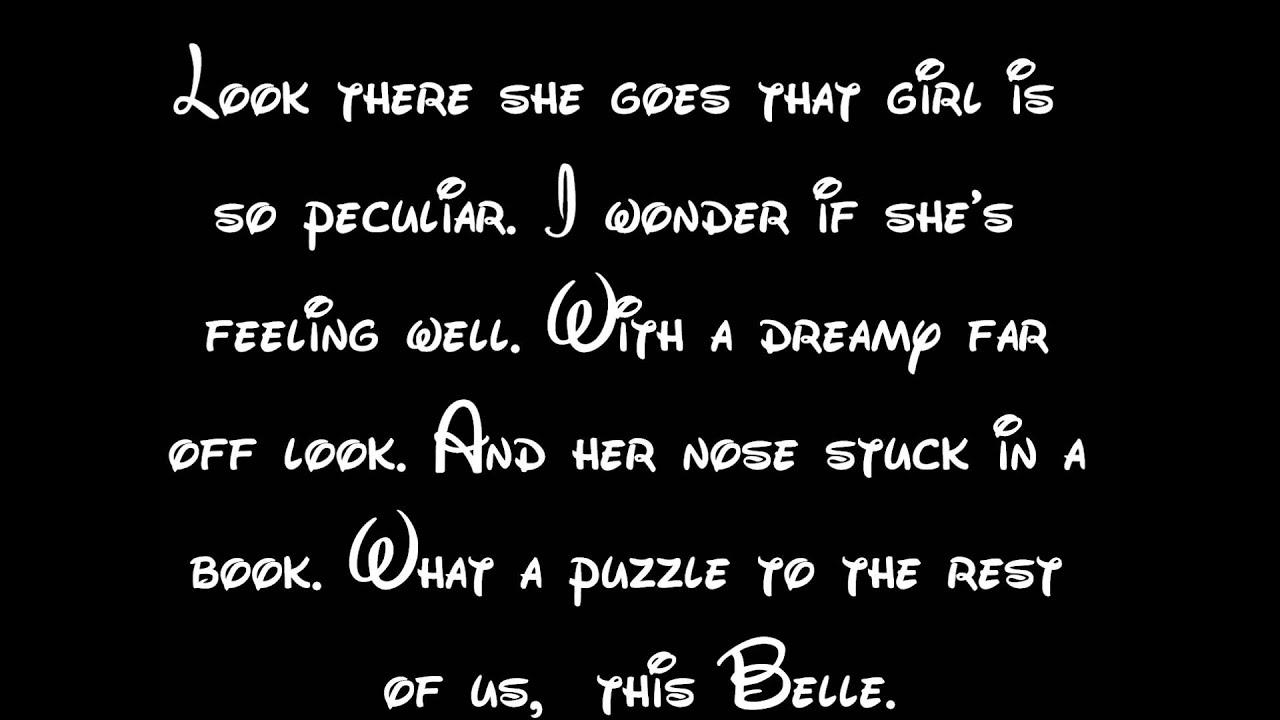 Belle - Beauty And The Beast Lyrics HD - YouTube