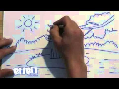 Họa sỹ tí hon  Vẽ tháp rùa - YouTube
