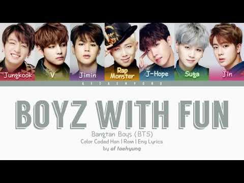 BTS - Boyz With Fun Lyrics HanRomEng