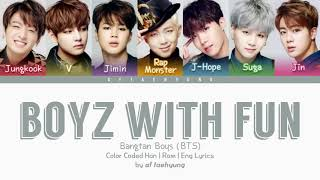 Download Mp3 Bts - Boyz With Fun Lyrics Hanromeng