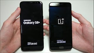 OnePlus 5 vs Samsung Galaxy S8 Plus Speed Test!