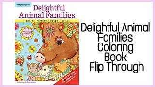 Delightful Animal Families / Adult Coloring Book