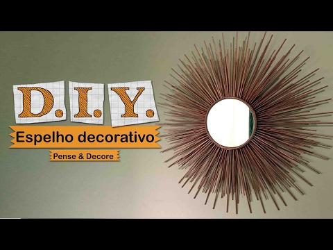 DIY - Espelho Decorativo #2  SUNBURST MIRROR