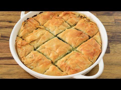 Greek Spinach Pie Recipe (Spanakopita)