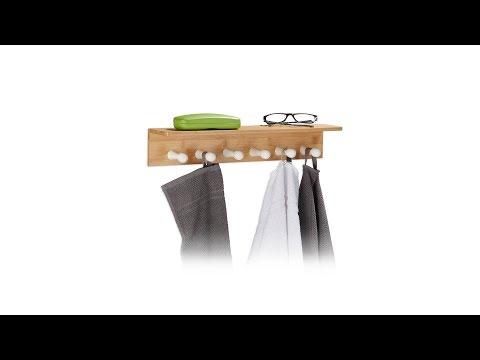 Handtuchhalter Bambus für die Wand