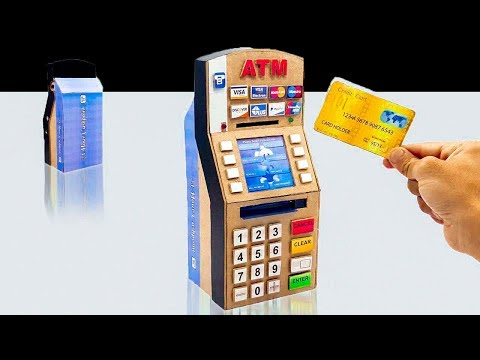 How to Make a ATM || ATM Piggy Bank From Hardboard || DIY ATM at Home
