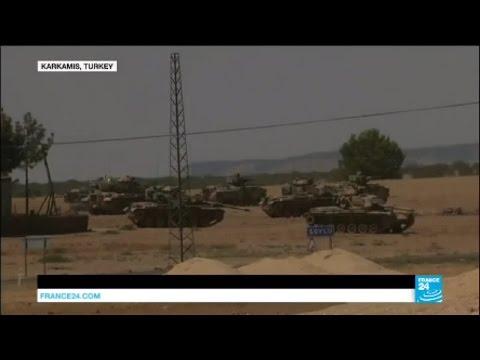 Syria: Turkey shells Islamic state group and Kurdish Peshmerga positions on northern border