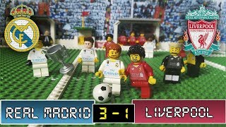 Real Madrid 3 vs Liverpool 1 - Fútbol LEGO - Final Champions League 26/05/2018 - STOP MOTION