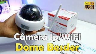 UNBOXING CÂMERA IP WIFI DOME 1080P BESDER APLICATIVO YOOSEE