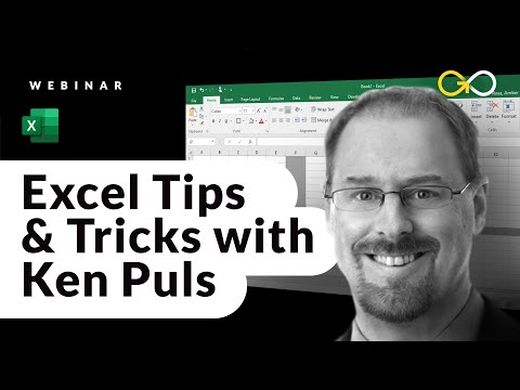Excel Tips & Tricks with Excel Guru Ken Puls via GoSkills Excel