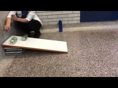 newtons second law demonstration