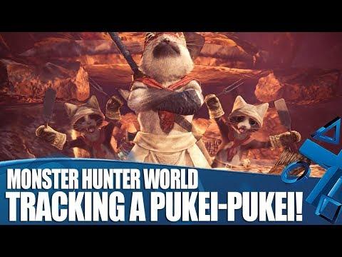 Monster Hunter World New Gameplay - Tracking A Pukei-Pukei!