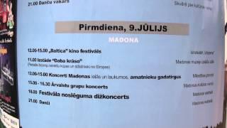 Festivāla BALTIKA 2012 noslēgums Madonas estrādē 9.07.2012