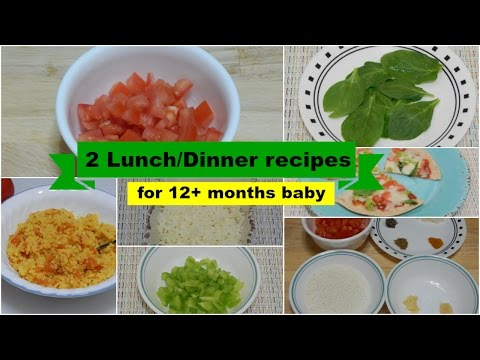 2 EASY HEALTHY LUNCH/DINNER IDEAS! Quick Meal Recipes For Toddler & Kids L Baby Food | 12+ Months