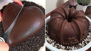 Oddly Satisfying Cake Videos  Easy Cake Decorating Ideas  Amazing Chocolate Cake Recipes