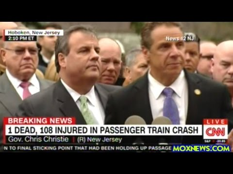 Governors Christie And Cuomo Hold Press Conference On New Jersey Train Crash