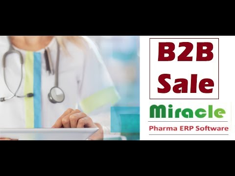 How to Manage B2B Sales using Miracle Pharma ERP Software by www.solversolutions.in