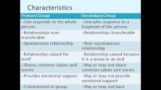 Sociology Part 6: Social groups