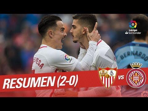 Resumen de Sevilla FC vs Girona FC (2-0)