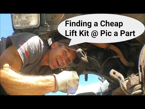 Removing Rusty's Lift Kit from Pic A Part for Cheap.