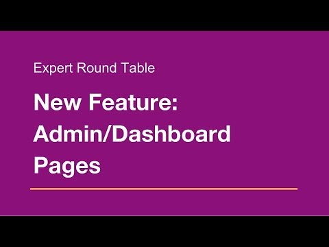 Wix.com Expert Community Round Table: Admin/Dashboard Pages!