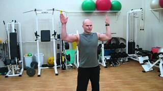 Комплекс упражнений при повреждениях плеча(1. Пожимания плечами ( шраги) 20 раз 2. Разводка рук в наклоне 20 раз 3. Разводка рук в стороны 20 раз 4. Подъём рук..., 2013-03-10T11:54:24.000Z)