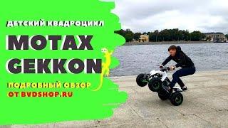 Обзор квадроцикла Motax Gekkon. Квадроцикл для детей от 3 до 10 лет Video