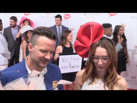 Will Chase & Ingrid Michaelson on the Kentucky Derby Red Carpet