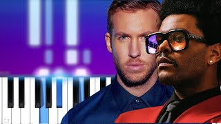 Calvin Harris, The Weeknd - Over Now | Piano Tutorial