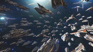 Battle of the Milky Way - Epic Space Battle - Mass Effect Legendary Edition Ending