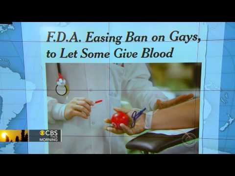 FDA To Recommend Lifting Ban On Blood Donations By Gay, Bisexual Men
