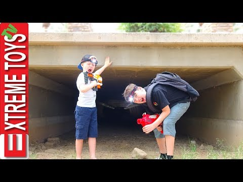 Exploring Spooky Tunnel! Sneak Attack Squad Vs. Mystery Creature!