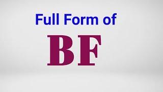 Full form of Bf