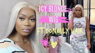 HOW TO | ICY BLONDE WIG | DONMILY HAIR