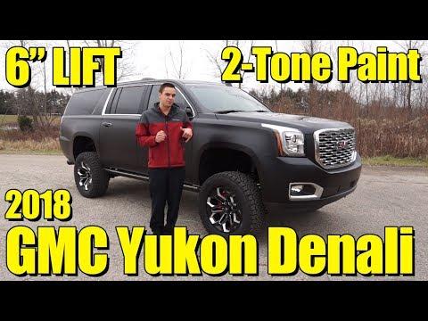 "Lifted 2018 GMC Yukon Denali! World First! 6"" Lift, Satin Black Paint! It's the latest Black Widow!"
