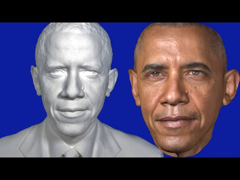 President Obama In 3-D