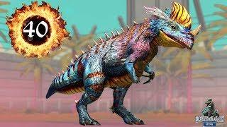 Церазинозавр Новый Гибрид прокачка Ceratosaurus 40 Jurassic World Игра