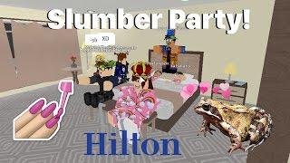 Roblox: Hilton Hotels | Slumber Party!!