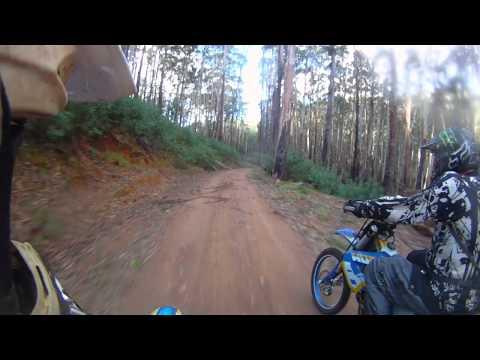 Dirtbike trail ride helmet cam sawmill settlement mt buller open riding 2
