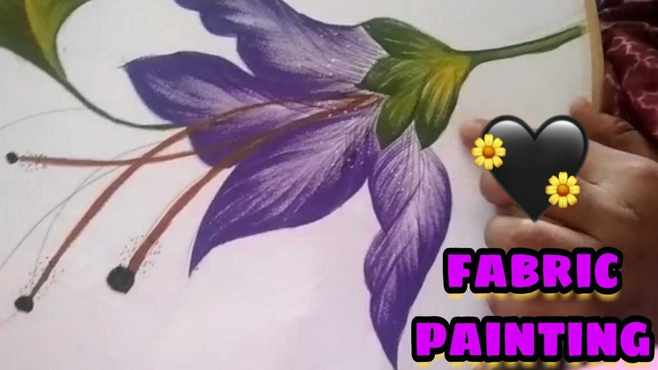 Fabric Painting Painting Tutorial Painting Ideas Bed Sheet Painting Youtube