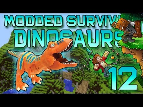 Minecraft: Modded Dinosaur Survival Let's Play w/Mitch! Ep. 12 - Rest In Power Moves