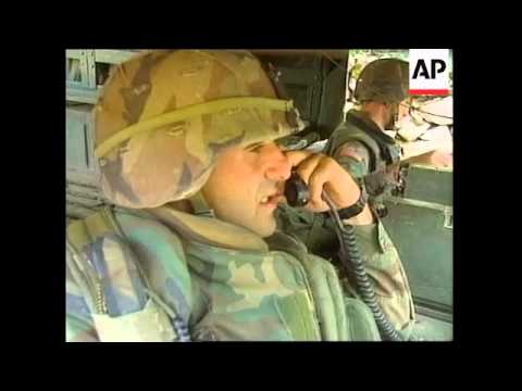 YUGOSLAVIA: KOSOVO: US PATROL REACT TO KLA SHOW OF STRENGTH