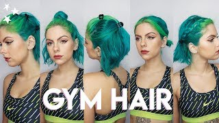 Gym Hairstyles For Short Hair Youtube