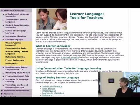 Exploring Spanish Learner Language: New CARLA Multimedia Activities